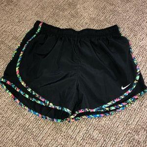 Black/colorful Nike Dri-fit shorts